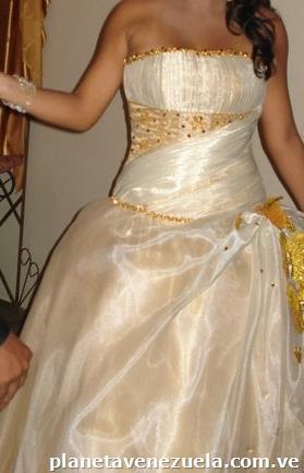 Vestidos De 15 Años Color Champagne Con Dorado En Maracaibo